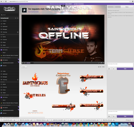 Twitch Channel Layout for Saint Vicious by ciael