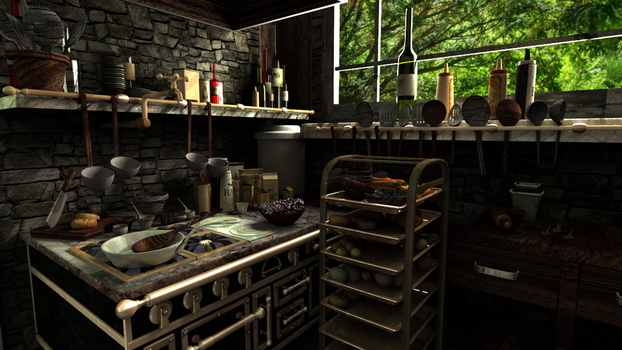 Ratatouille Kitchen Texturing Project Part 1 by ShadeDemonwolf