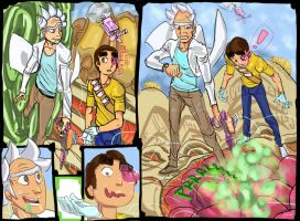 Rick And Morty  Full Page by GOSTFREEK