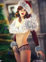 Christmans Pin-Up 12 by LaMuserie