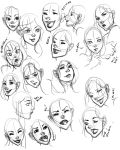 Facial Expressions practice 1 by Raeri-Chan