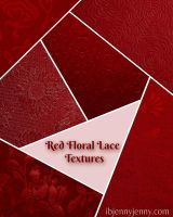 Red Lace Floral textures.. by ibjennyjenny by ibjennyjenny