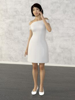 Off the Shoulder Dress by amyaimei