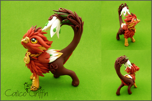 Akairo - the flower griffin by CalicoGriffin