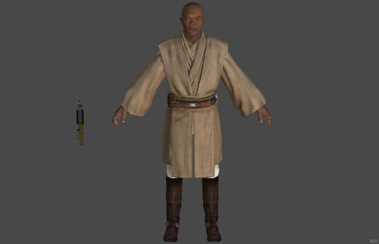 'The Force Unleashed' Mace Windu 2.0 XPS ONLY!!! by lezisell