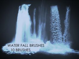 Waterfall Photoshop Brushes by thomascall