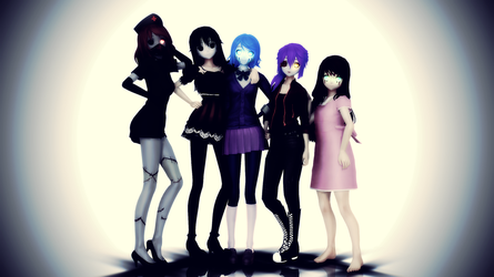 [CREEPYPASTA MMD] CREEPYPASTA GIRLS MODEL PACK 1 by LostWight