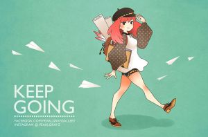 Keep going by Pearlgraygallery
