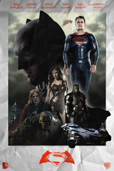 Batman v Superman: Dawn of Justice - POSTER by MrSteiners
