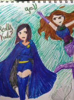 Me and my sister as Teen Titans by KalaHamato