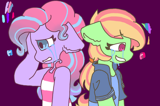 Mint swirl and goofball by synnibear03