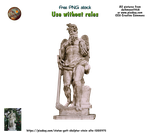 Old stone sculpture statues PNG stock by darkmoon1968