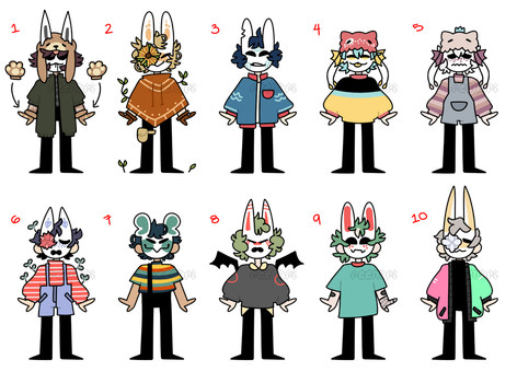(CLOSED) masked kids 25 by ReeAdopts