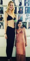Tall model and short stylist by lowerrider