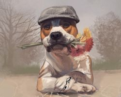 American Staffordshire Terrier by Pihguinolog