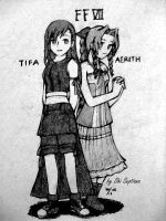 Tifa and Aerith by ShiSeptiana