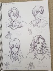 FE Sacred Stones/Heroes sketches by Escoatic