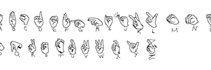 Sign Language - Manual by laurabeth