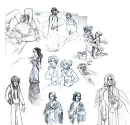 Potter sketches by Sally-Avernier