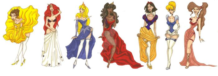 Disney Princesses by LaTaupinette