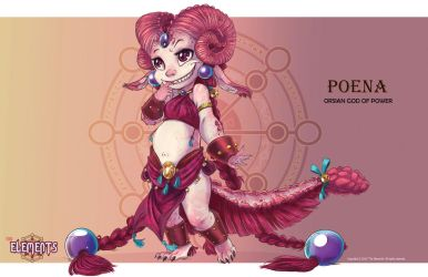 Poena- Dragon of Power by ElementJax