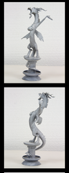 Statue Discord 3D-Printed Figure by Clawed-Nyasu