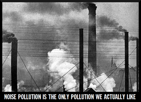 noise pollution is the only pollution we actually by sootyjared