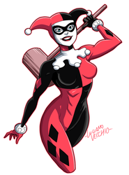 Harley Quinn 25 Years by LucianoVecchio