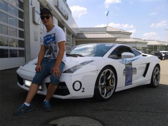Owner of this white  Lamborghini Sport car by blueMALOU