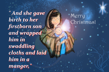 Christmas Mary and Jesus inspirational card by donwhitt
