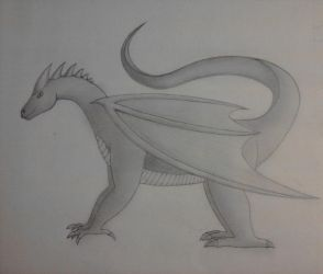 Dragon and shading practice by Clivvellusion
