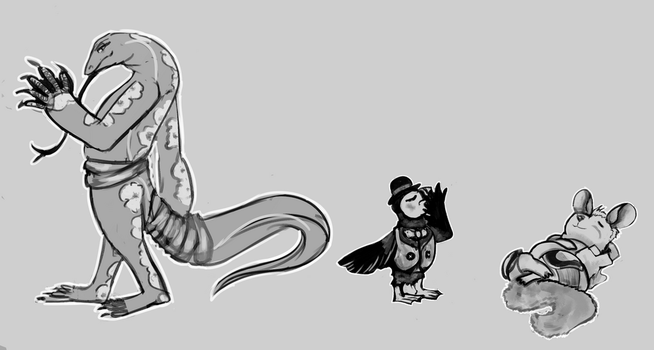 April 4th 2016 Character Sketches by IncubusPhanto