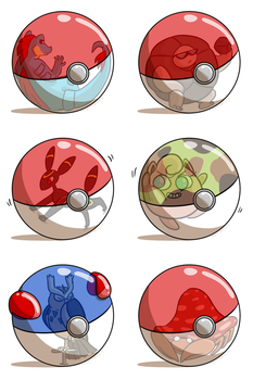 Petty Nuzlocke Challenge-- Pokeball Meme by pettyartist