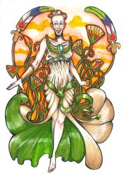 Isis - Lady of Green Plants by hello-heydi