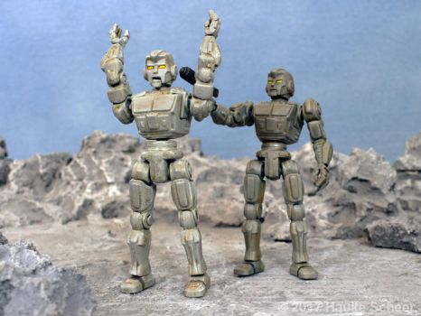 3D printed robot action figure 3 3/4 inch  I by hauke3000