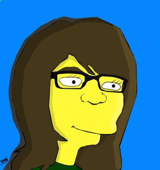 She in simpsons by kucai