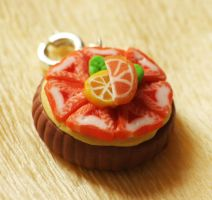 Polymer Clay Strawberry Tart by LiquidFruit