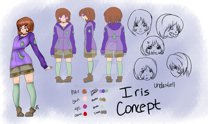 Undertell Character Reference: Iris by AnarchyKJ