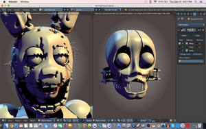 Springtrap V3 W.I.P by CoolioArt
