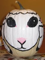 Sheep Pumpkin 2010 by angelacapel