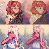 [Collab] Portraits with Pioaanean! by aienai