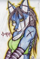 Furry Wolf girl thing... by My-Little-Zombie