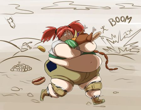 Filler art 35 Nadia Cassel from Metal Slug by Oda-Lee