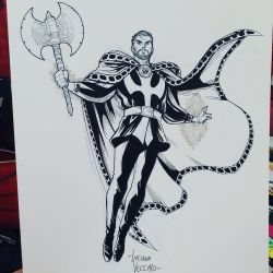 nDr Strange commission sketch at Argentina ComicCo by LucianoVecchio