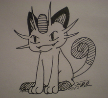 Inktober2017 Day6: A Sly Look by Beane-Cat