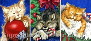 Waiting for Santa ACEO Tryptic by MPFitzpatrick