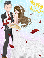 Happy Wedding Sis by AlenaMiyuki