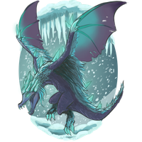 Auroth, the Winter Wyvern by Mythilas