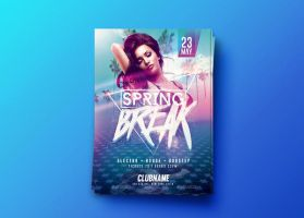 Spring Break Party | Psd Flyer Template by RomeCreation