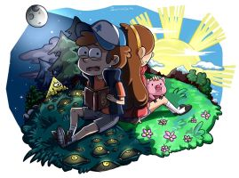 Dipper and Mabel by Darya-Hedera